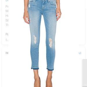 Mother Skinny Jeans Undone Hem Looker Size 24